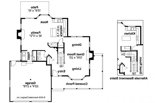 Country House Plan - Bristol 10-184 - 1st Floor Plan