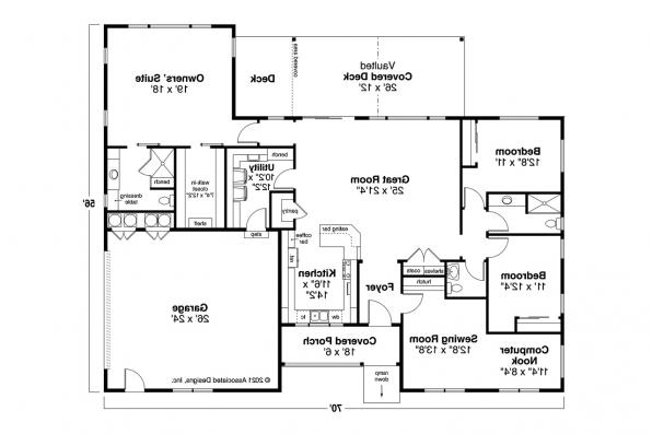 Country House Plan - Agness 31-293 - Floor Plan