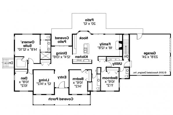 Country House Plan - Clarkdale 30-783 - Floor Plan