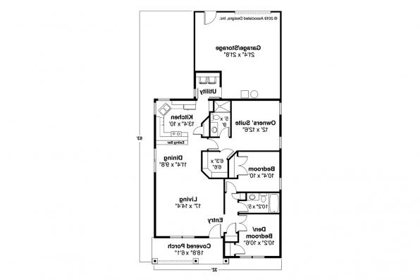 Craftsman House Plan - Cleveland 30-105 - Floor Plan