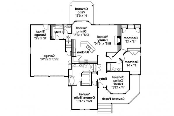 Country House Plan - Cumberland 30-606 - 1st Floor Plan