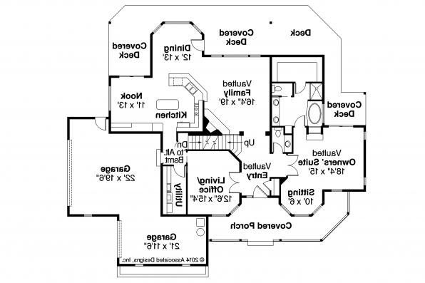 Country House Plan - Heartwood 10-300 - First Floor Plan