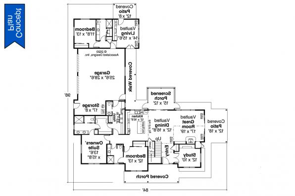 Country House Plan - Idllywild 31-220 - First Floor Plan