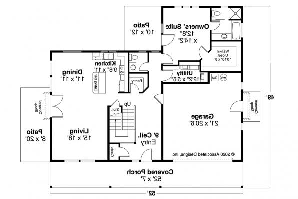 Country House Plan - Primrose 30-826 - First Floor Plan