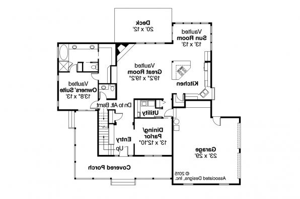 Country House Plan - Richland 10-256 - 1st Floor Plan