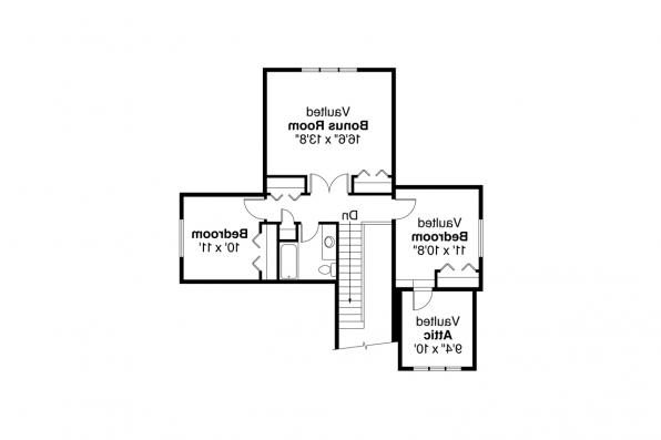 Country House Plan - Shasta 30-866 - 2nd Floor Plan