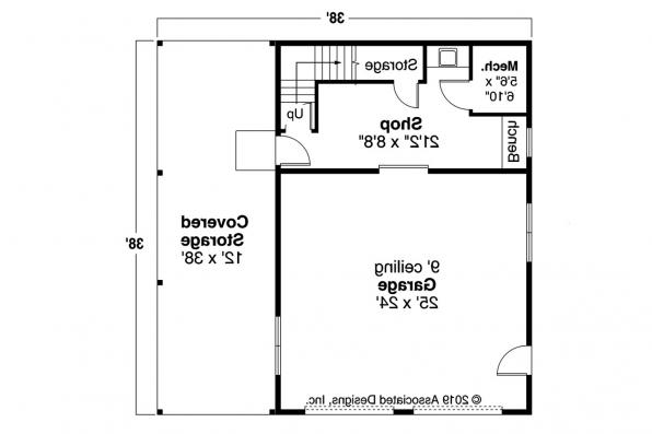 Garage Plan 20-061 - First Floor Plan