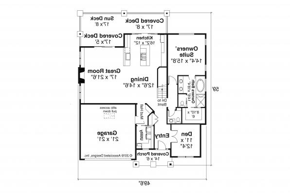Traditional House Design - Pine Valley - 31-159 - First Floor