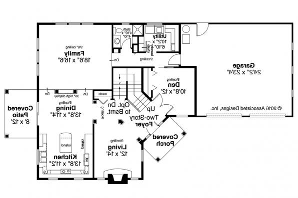 Craftsman House Plan - Bowman 30-315 - 1st  Floor Plan