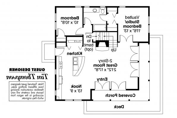 Craftsman House Plan - Cedar View 50-012 - First Floor Plan