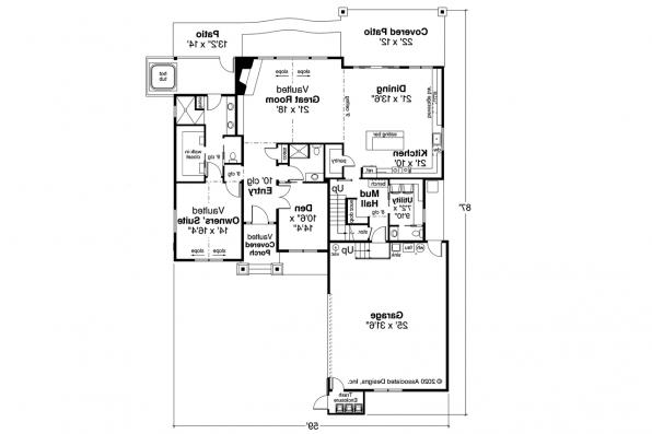 Craftsman House Plan - Holly Hill 31-243 - First Floor Plan