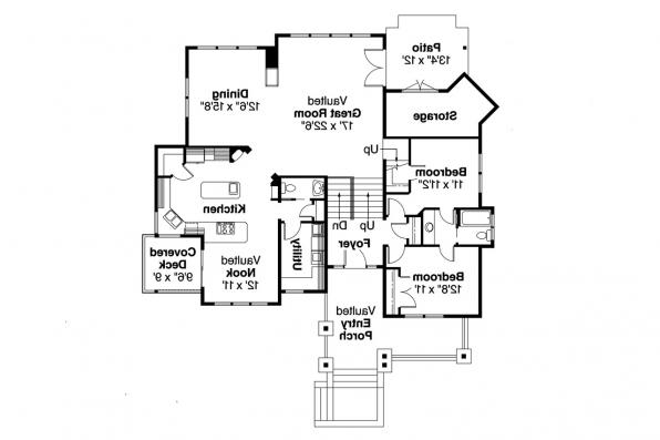 Craftsman House Plan - Kelseyville 30-476 - 1st Floor Plan