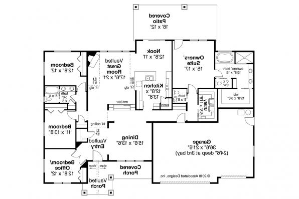 Craftsman House Plan - Laceflower 31-118 - Floor Plan