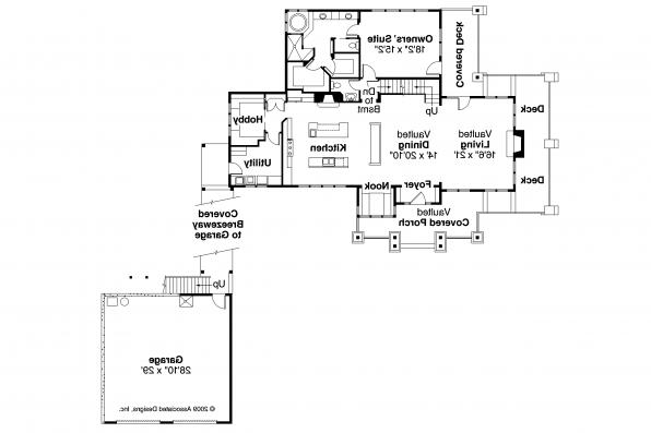 Craftsman House Plan - Meriweather 30-502 - First Floor Plan