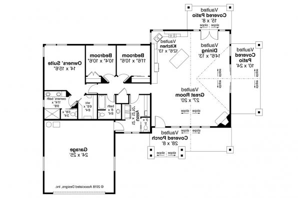 Craftsman House Plan - Multnomah 31-121 - Floor Plan
