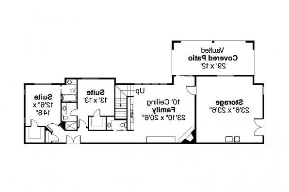 Craftsman House Plan - Pacifica 30-683 - 2nd Floor Plan