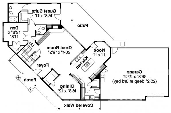 Craftsman House Plan - Rutherford 30-411 - 1st Floor Plan