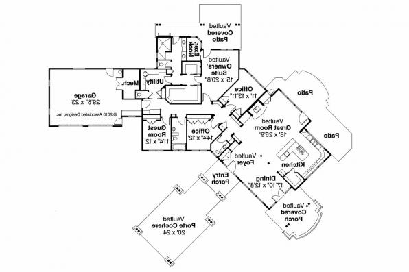 Craftsman House Plan - Springwater 30-661 - Floor Plan