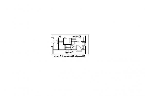 Craftsman House Plan - Sutherlin 30-812 - Basement Stair