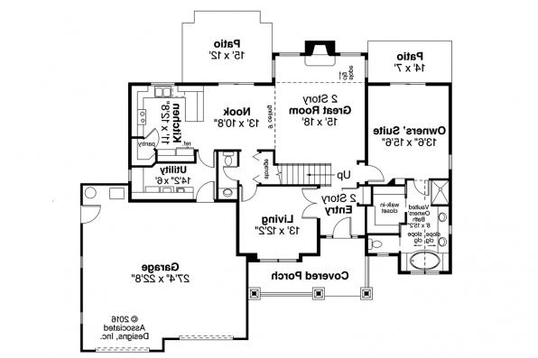 Craftsman House Plan - Tazewell 30-477 - 1st Floor