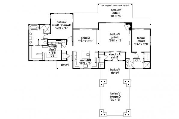 Craftsman House Plan - Tetherow 31-019 - Floor Plan