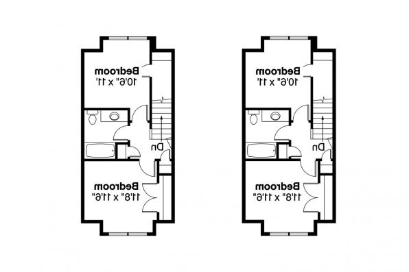 Duplex Plan - Cranbrook 60-009 - 2nd Floor Plan