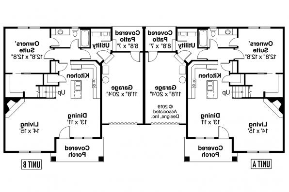 Duplex Plan - Donovan 60-007 - 1st Floor Plan