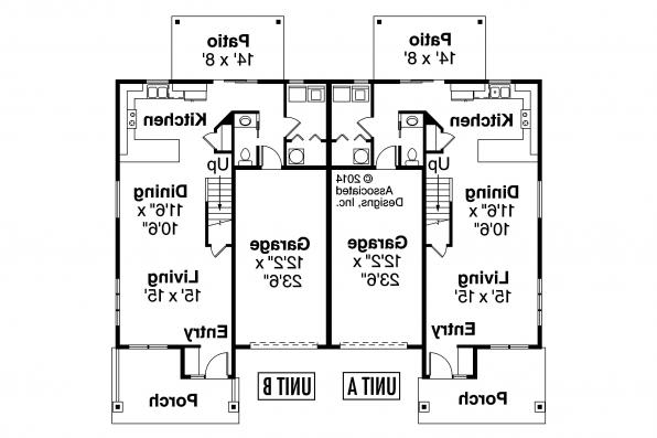 Duplex Plan - Kennewick 60-037 - First Floor Plan