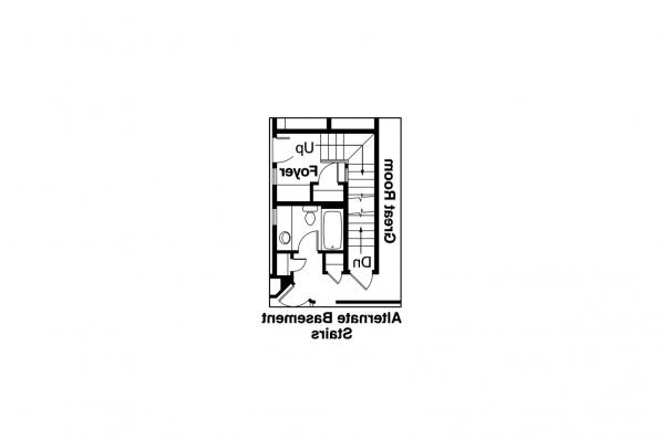 Duplex Plan - Tupelo 60-006 - Alternate Basement Stair