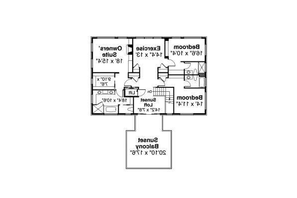 Colonial House Plan - Westchester 31-167 - Second Floor