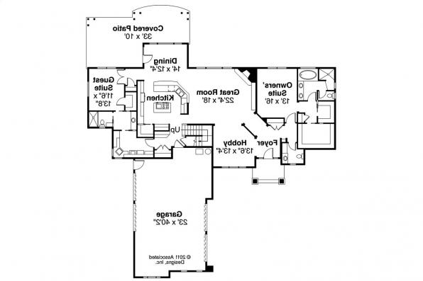 Euorpean House Plan - Canyonville 30-775 - 1st Floor Plan