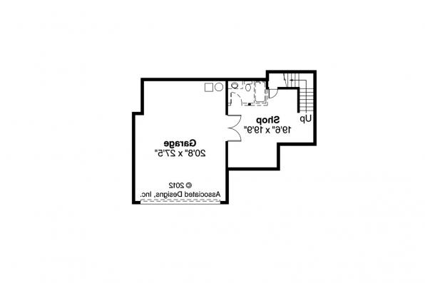 European House Plan - Marseille 30-421 - Garage Floor Plan