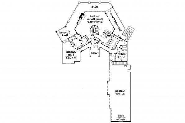 European House Plan - Hillview 11-138 - First Floor Plan