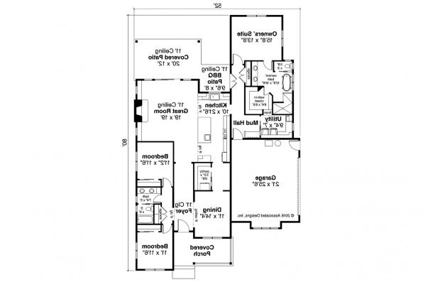 Farmhouse Home Design - Whiskey Creek 31-143 - Floor Plan