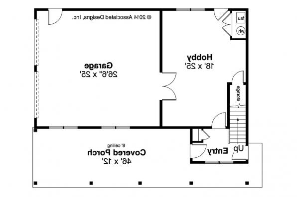 Garage Plan 20-119 - First Floor Plan