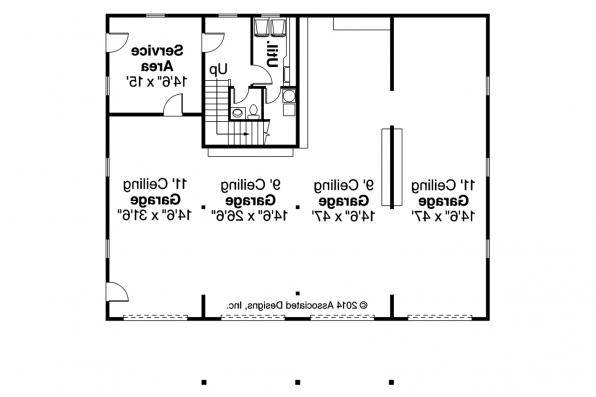 Garage Plan 20-144 - First Floor Plan