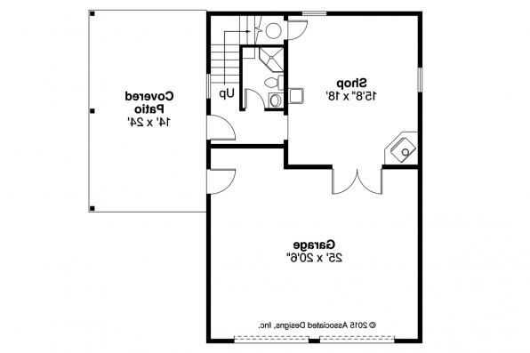 Garage Plan 20-154 - First Floor Plan