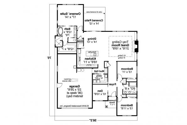 Single Story House Plan - Alderwood 31-049 - Floor Plan