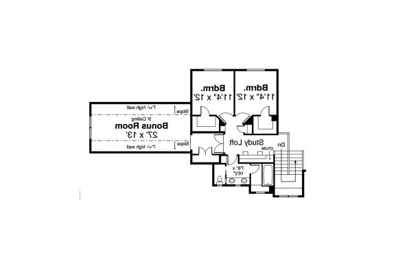 Lodge Style Home Plan - Eatonville 31-165 - Second Floor