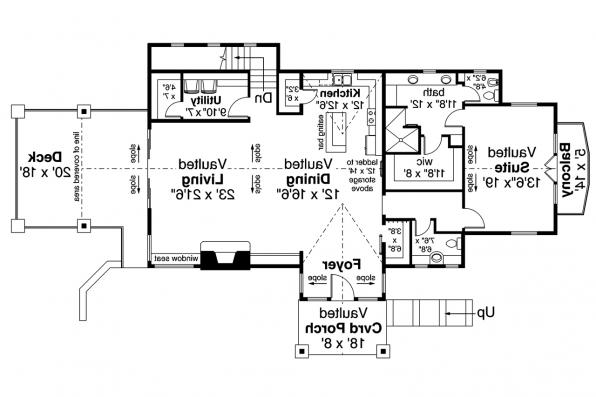 Lodge House Plan - Stonegate 31-132 - First Floor