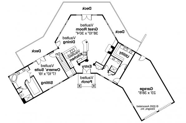 Lodge House Plan - Viewcrest 10-536 - Main Floor Plan