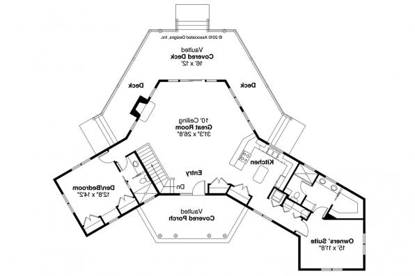 Lodge Style House Plan - Greenview 70-004 - Floor Plan