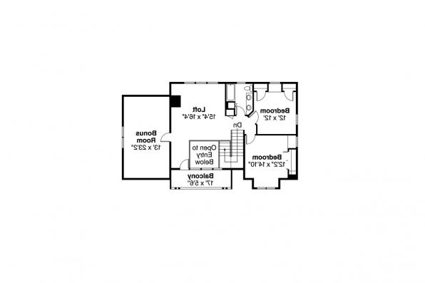 Lodge Style House Plan - Mariposa 10-351 - 2nd Floor Plan