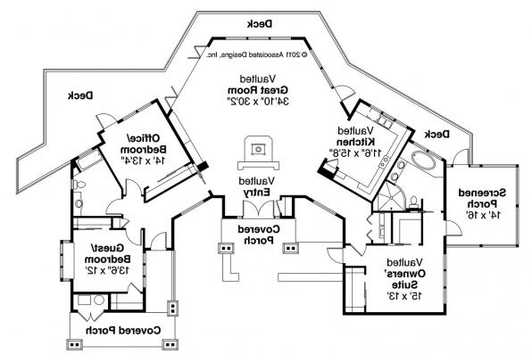 Lodge Style House Plan - Sandpoint 10-565 - Floor Plan
