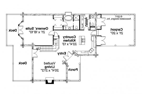 Lodge Style House Plan - Wickiup 30-116 - 1st Floor Plan