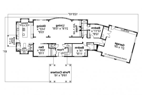 Colonial House Plan - Westchester 31-167 - First Floor