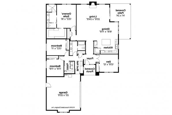 Prairie Style House Plan - Arrowwood 31-051 - Floor Plan