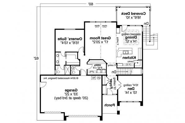 Prairie House Plan - Hood River 30-947 - First Floor Plan