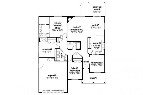 Ranch House Plan - Eastford 30-925 - Floor Plan