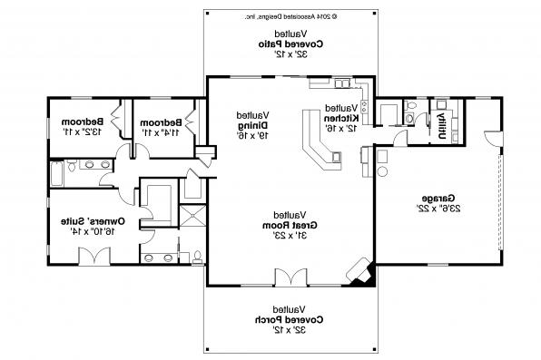 Ranch House Plan - Anacortes 30-936 - Floor Plan